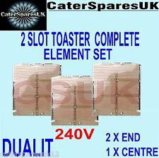 Dualit 2 Slot Slice Toaster Complete Element Set 2 X End 1 X Centre Parts Spares