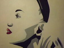 Pintura al óleo abstracta Gwen Stefani Grande Lona cara Pop Art Moderno Contemporáneo