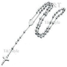 T&T 316L Stainless Steel Rosary Bead Necklace (RB03)