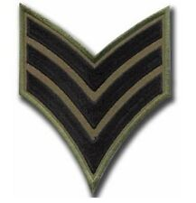 NEW PREMIUM IRON ON SEW PATCH ARMY MILITARY AIRFORCE SERGEANT STRIPES CHEVRONS