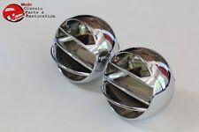 Camaro Chevelle Corvette Impala Chevy Truck Dash Astro Air AC Vent Balls Chrome