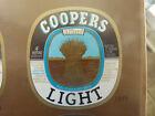 VINTAGE AUS BEER LABEL. COOPERS LIGHT BEER 375 ML SHEAF T'MK VAR. #3