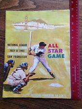 1961 Major League Baseball All-Star Game Official Program Candlestick Park