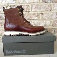 $200 TIMBERLAND MEN'S BRITTON HILL MOC TOE WATERPROOF BOOTS  A1253. SIZE: 10.5