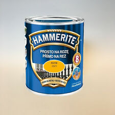 Hammerite Metallschutzlack Rostschutz 0,7 l Glänzend Gelb NEU BESTER PREIS
