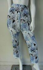 BLUE ILLUSION sz XL/16 cotton blend blue/white 3/4 pants AS NEW