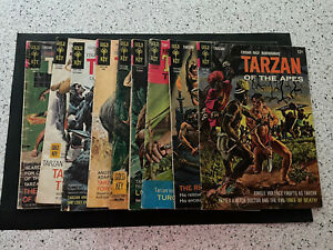 Lot of 9 Tarzan comics #151,156,171,180,187,192,195,196,201