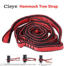 CLEYE Heavy-duty Hammock Tree Strap Hanging Rope Yoga Resistance Band Red