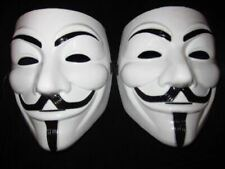 (2ct) V For Vendetta Mask Guy Fawkes Carnival Halloween Costume Masquerade Masks