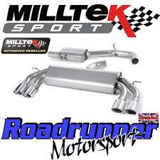 """Milltek Audi S3 8 V 3-portes Race exhaust 3"""" non rhabditiforme res polonais ovales SSXAU526"""