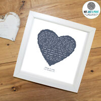 Ellie Goulding How Long Will I Love You - Personalised Print HEART - First Dance