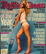 JESSICA SIMPSON HANDSIGNED VINTAGE ROLLING STONE MAGAZINE / JSA COA!