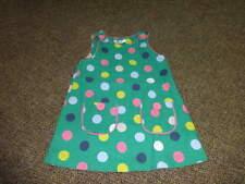 MINI BABY BODEN 18-24 GREEN POLKA DOT DRESS