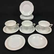 Rosenthal Maria White Classic Rose 12-Piece Lot Bread Plates Cups Saucers Bowl