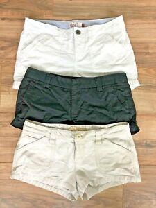Juniors Teen Volcom Kirra SO Lot of 3 Pairs of Shorts Lot Sz 7 9 Khaki Black
