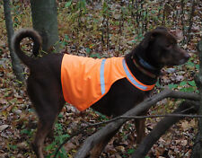 Blaze Orange Reflective Upland Gun Dog Hunting Pet Safety Vest Large USA Seller