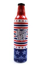 Collectible Metal Mountain Dew 16 oz Bottle Red White Blue Stars and Stripes