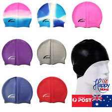 Men Women Adults Silicone Swim Swimming Cap Durable Flexible Australia Stock