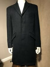William Hunt Savile Row Wool Cashmere Mix Jacket/Coat-UK40R-EU50-Black Rrp£325