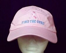 Pink Ribbon Baseball Hat Breast Cancer Awareness Blue Find Cure Pink Cap New