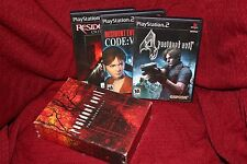 Resident Evil The Essentials PS2 RE 4 Code Veronica Outbreak Sony Playstation 2