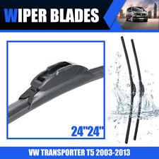 """Front Flat Windscreen Windshield Wiper Blade For VW Transporter T5 03-13 24"""" 24"""""""