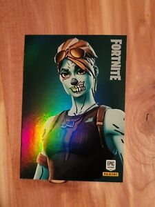 🔥 Fortnite Ghoul Trooper!! 214 holo foil epic outfit Panini Series 1 🔥