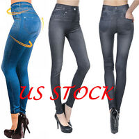 Women Skinny Jeggings Stretchy Denim Pants Leggings Jeans Pencil Tight Trousers