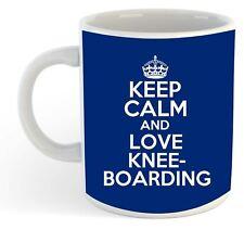 Keep Calm And Love Kneeboarding  Mug - Blue