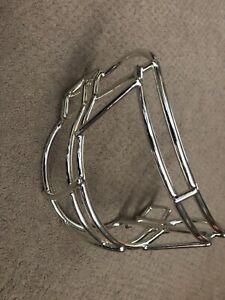 Vtg NEW Riddell Adult Football Revolution Helmet Facemask face guard CHROME