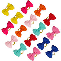 50pcs/lot Dog Hair Bows With Rubber Bands Pet Grooming Puppy Holiday Accessory