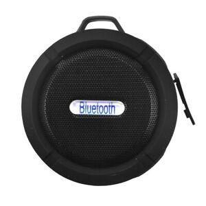 Mini Speakers Waterproof Wireless Bluetooth Shower Car Suction Handsfree Mic Cup