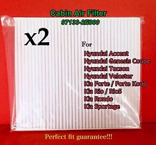 x2 C35865 Cabin Air Filter For HYUNDAI Accent Veloster Forte Tucson Rio Sportage