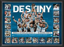 CRONULLA SHARKS 2016 NRL PREMIERS FRAMED LIMITED EDITION SPORTSPRINT MALONEY