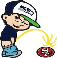 Seattle Seahawks Piss On San Francisco 49ers Vinyl Decal CHOOSE SIZES