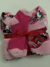 Minnie Mouse Junior Womans Size XL Extra Large Fleece Pajama Pants Sock Set Pink