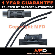 "FOR FIAT 500 2007- DIRECT FIT FRONT AERO WINDOW WIPER BLADES PAIR 24"" + 13"""