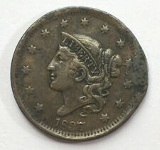 1837 USA One Cent Coronet Head Large Copper Coin  #Ref26