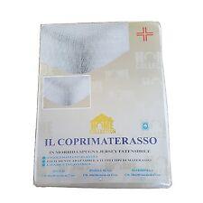 Coprimaterasso in morbida spugna angoli estensibili 1/2 piazza 140x200 +  27cm