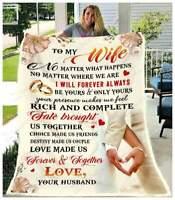 Owl To My Wife God Blessed The Broken Road Sofa Fleece Blanket 50-80