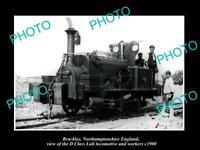 OLD 8x6 HISTORIC PHOTO BRACKLEY ENGLAND THE D CLASS LULI LOCOMOTIVE c1900