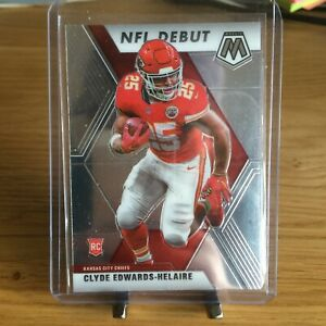 Clyde Edwards Helaire 2020 Mosaic Football NFL Debut Rookie Card RC