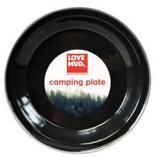1 x Enamel Finish Camping Plate Tin Picnic 23cm Bowl Outdoor Garden Table LPLATE