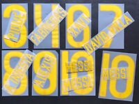 KIT NOME+NUMERO UFFICIALE BARCELONA HOME/3RD OFFICIAL NAMESET player sz SIPESA