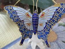 CLOISONNE BUTTERFLY ~ WINE STOPPER ~BLUE  MARKINGS