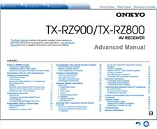 Onkyo TX-RZ900 / TX-RZ800  AV Receiver Owner's Manual - Operating Instructions