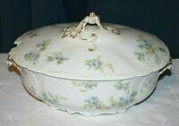 1891 Rare Antique Limoges Haviland CFH GDM France gold porcelain serving dish