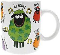 Wacky Woollies Ceramic Coffee Tea Mug Cup Funny Sheep Print Cute Irish Souvenir