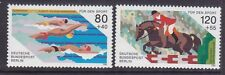 Germany Berlin 9NB232-33 MNH 1986 Swimming and Show Horse Jumping Sports Set VF