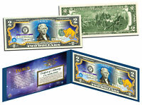TAURUS * Horoscope Zodiac * Genuine Legal Tender Colorized U.S. $2 Bill
